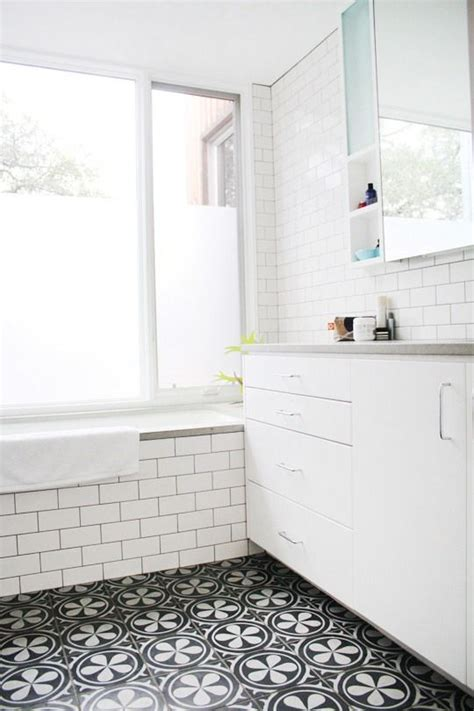 subway tile on bathroom floor this or that mosaic tile bathroom floors the floor