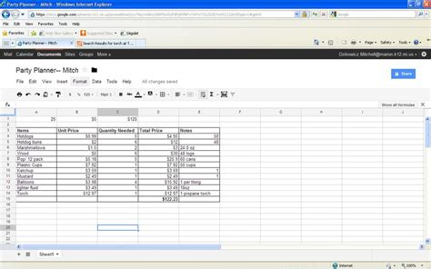 Planning Spreadsheet by Productivity Suite Planner Mitch Dzikowicz Portfolio