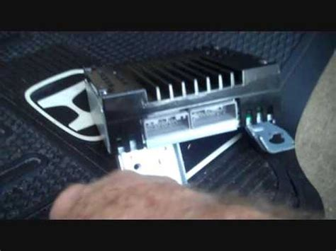 honda accord amplifier removal youtube