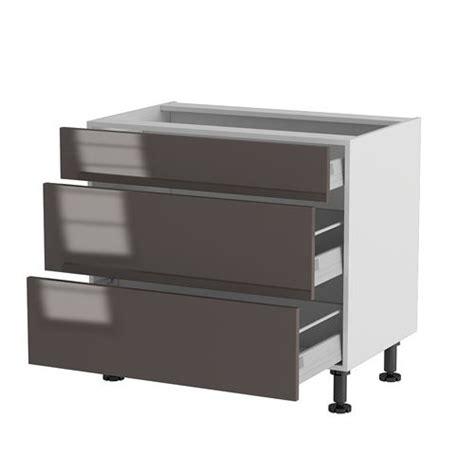 meuble cuisine ik饌 meuble cuisine bas 90cm 1 tiroir 2 casseroliers achat
