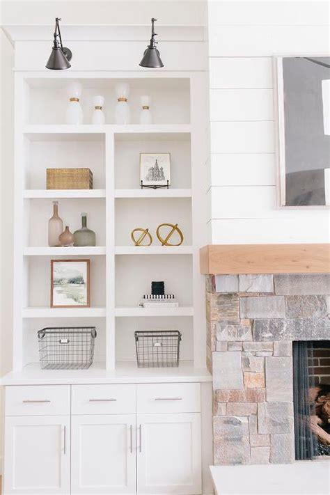 decorating built in shelves in living room cottage living room fireplace with built in shelves cottage living room benjamin