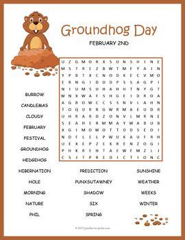 groundhog day meaning phrase punxsutawney phil s groundhog day word search puzzle