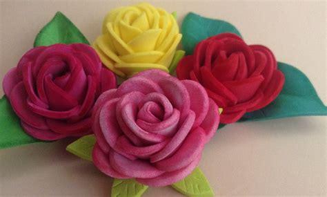 imagenes de rosas en foami rosas f 225 ciles de goma eva manualidades en goma eva
