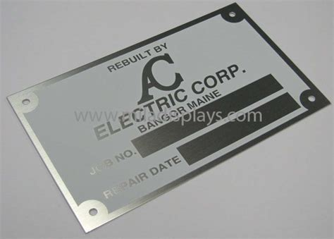 printable metal tags metal industrial commercial nameplates tags plates