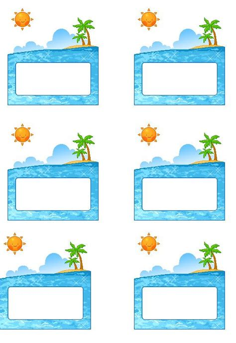 sea themed names beach labels for party snacks summer beach party pool
