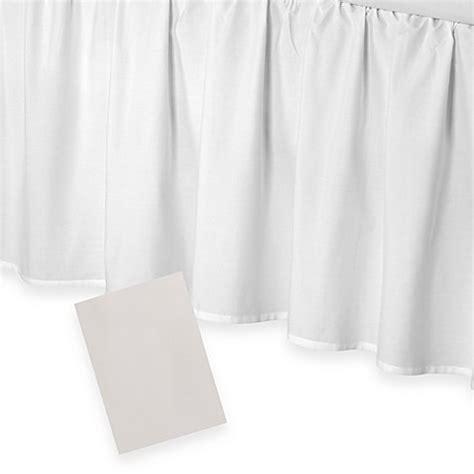 14 inch bed skirt smoothweave 14 inch ruffled bed skirt bedbathandbeyond com