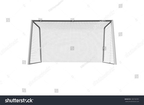 Soccer Goal White soccer goal on white background stock illustration
