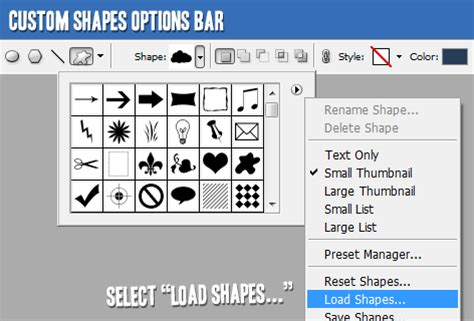 how load pattern in photoshop tutorial9 187 installing custom shapes and brushes in photoshop