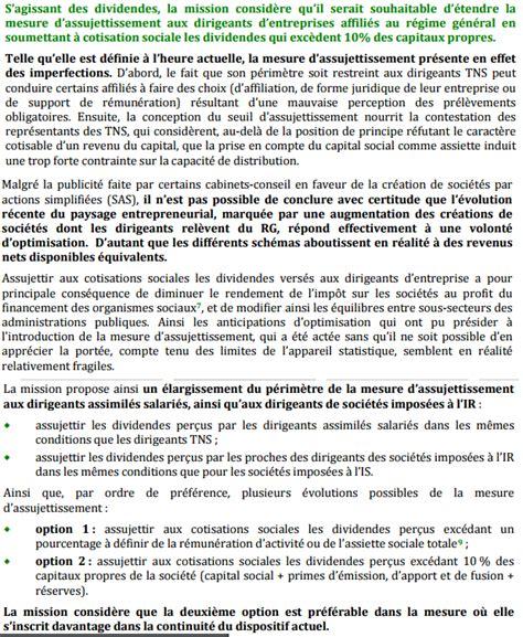 Credit Formation Dirigeant Sas Dividendes Vers 233 S Aux Dirigeants De Sas Le Retour Des Cotisations Sociales Si Sup 233 Rieurs 224 10