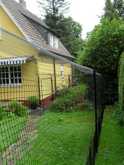 garten katzensicher katzengehege system als gartensicherung katzennetze
