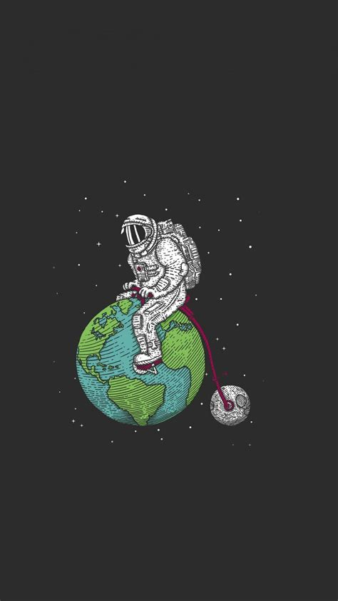 earth astronauts cartoonish funny outer space wallpaper