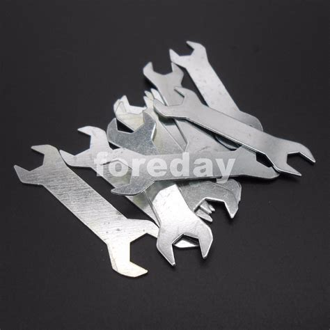 Open End Wrench Kunci Pas Konci Pas 1417 10pcs x new small wrench m3 m4 nut hex wrenches ended spanner diy model th 0 7mm 3mm 4mm