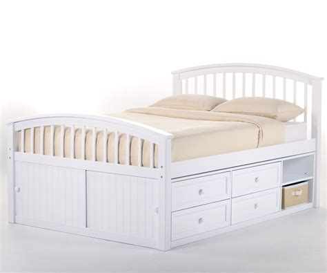 captains bed full size school house 7075 whitefinish full size captains bed ne kids