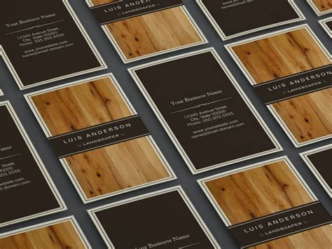 free templates for business card composer landscaper stylish wood texture business card template