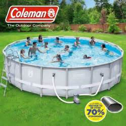Backyard Pools Walmart Coleman 18 X 48 Quot Power Steel Frame Above Ground Swimming Pool Set Walmart