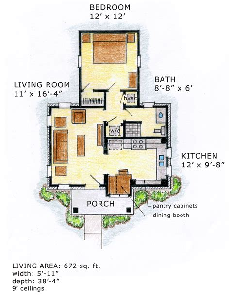 craftsman cottage floor plans cottage craftsman house plan 56580