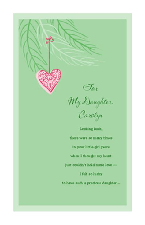 free printable christmas cards daughter quot love for daughter quot christmas printable card blue
