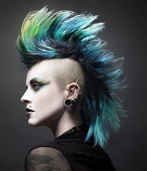famous ladies with mohawk shaved hair styles mohawk punk hairstyle for women fashion pinterest