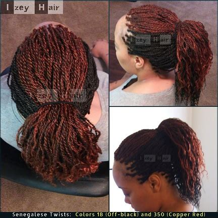 senegalese twist with color senegalese twists colors 1b black and 350 copper