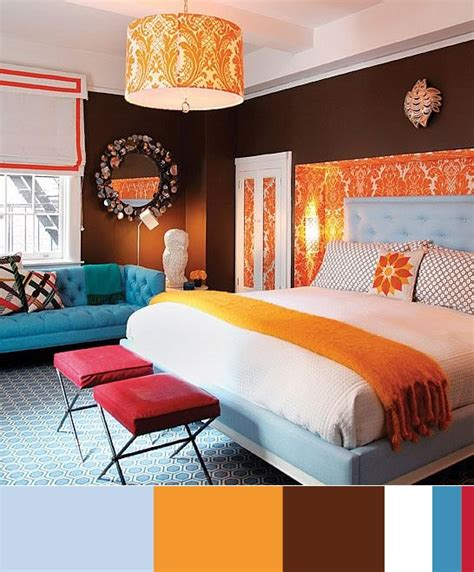 blue and orange bedroom ideas colors blue orange brown white crimson in the bedroom