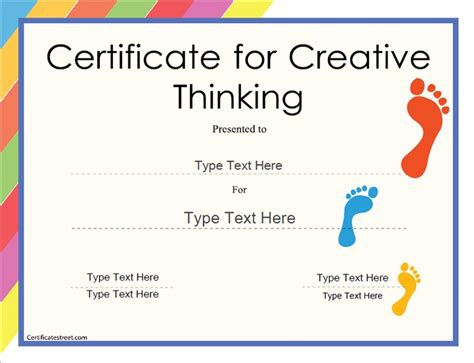 free educational certificate templates education certificate certificate for creative thinking
