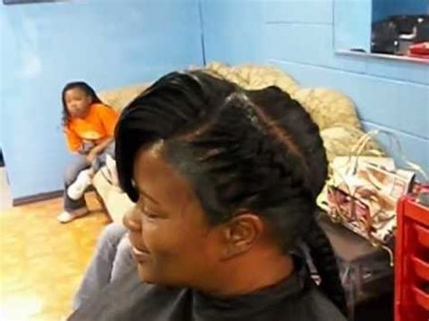 big braids with a bang underbraids with bang and ridges youtube