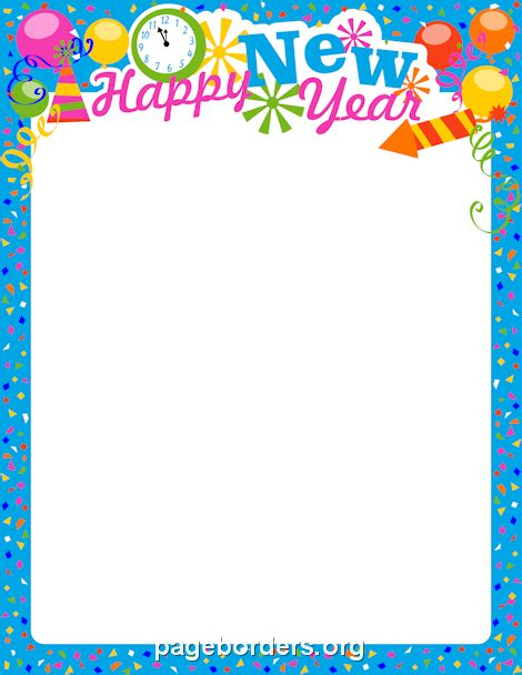 new year printable border new year s border clipart clipart suggest