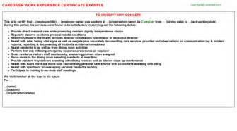 caregiver description for resume 2016