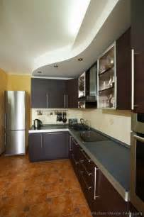 Modern Ceiling Design For Kitchen Kitchen Idea Of The Day Modern Espresso Kitchen With Lovely Curved Ceiling Soffit