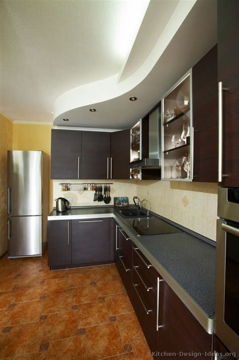 Kitchen Ceiling Design Ideas Kitchen Idea Of The Day Modern Espresso Kitchen With Lovely Curved Ceiling Soffit