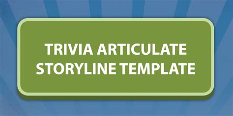 Trivia Style Articulate Storyline Template Articulate Storyline Templates