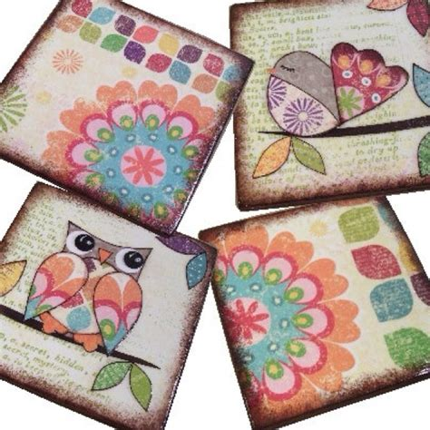 How To Make Decoupage Coasters - coasters decoupage ideas decoupage ideas