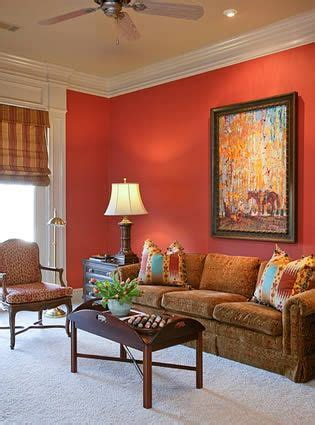 i m painting or living room this color coral on one