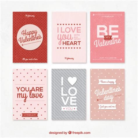valentines e card retro collection of valentines day cards vector free