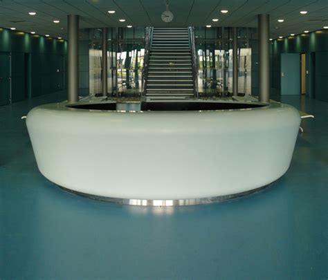 Whiteoval Central Counter By Amos Design Product Oval Reception Desk