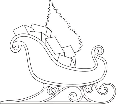 coloring pages of santa sleigh sleigh coloring pages santa sleigh printables