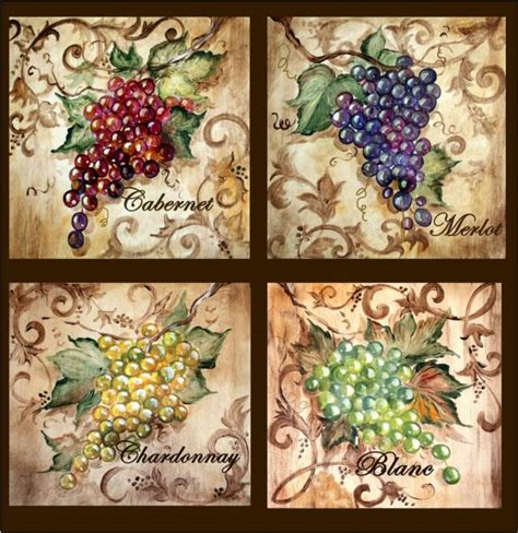 grapes and wine home decor tre sorelle art for home decor