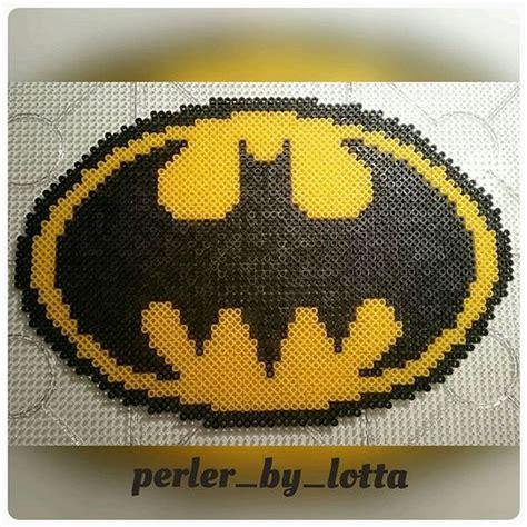 hama batman batman logo perler by perler by lotta