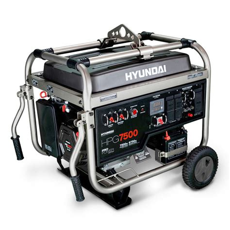 hyundai hpg7500 7 500 watt gasoline powered portable