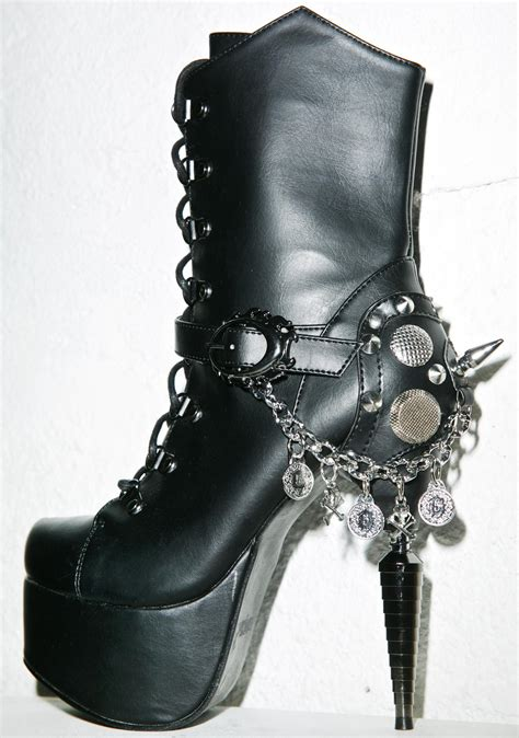 hades boots hades footwear envy high heel boots dolls kill