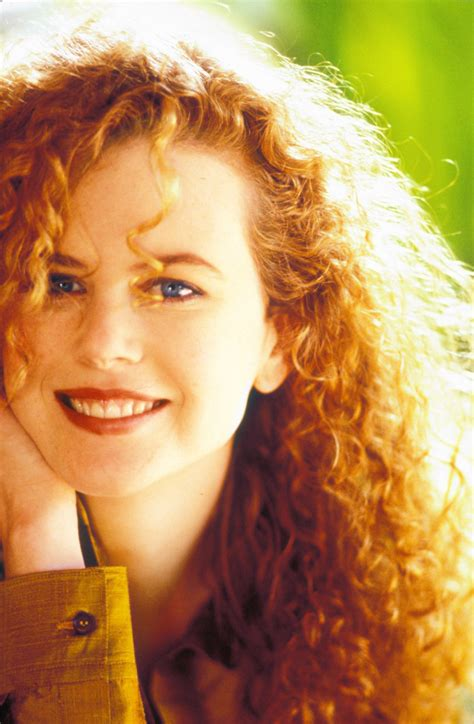 british actress with red curly hair instyle nicole kidman s transformations 1983 for