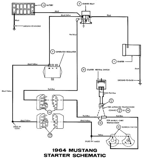 starter relay switch wiring diagram circuit and