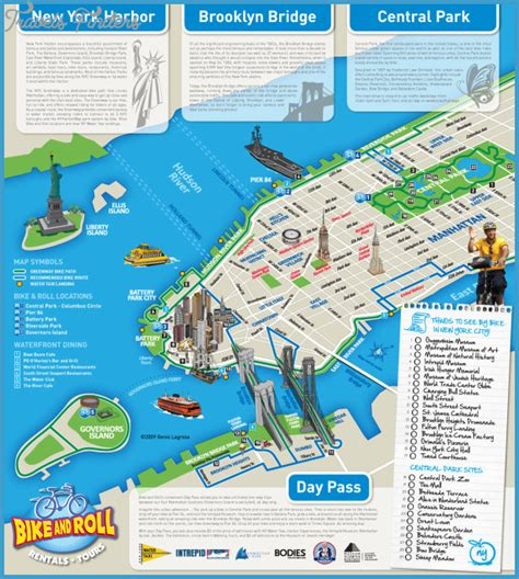 map of new york with attractions new york map tourist attractions travelsfinders
