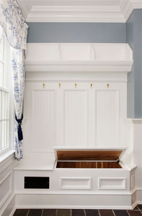 beadboard bench entryway shoe bench entry traditional with beadboard built in storage dark floor entry