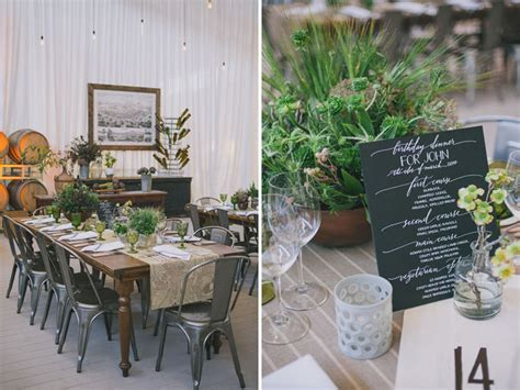 industrial themed decor industrial garden inspired birthday green wedding