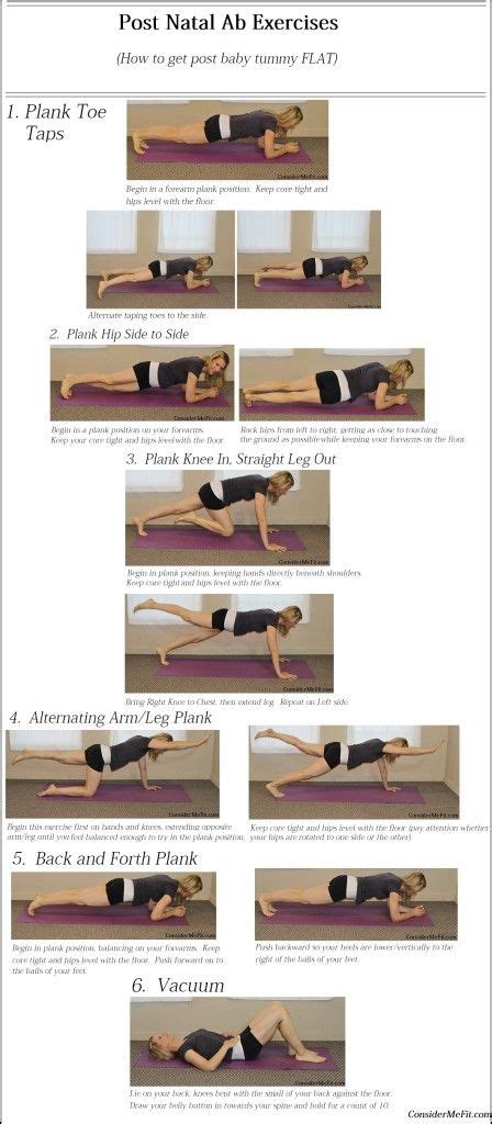 post baby ab exercises post natal abdominal printable workout how to get post baby tummy flat