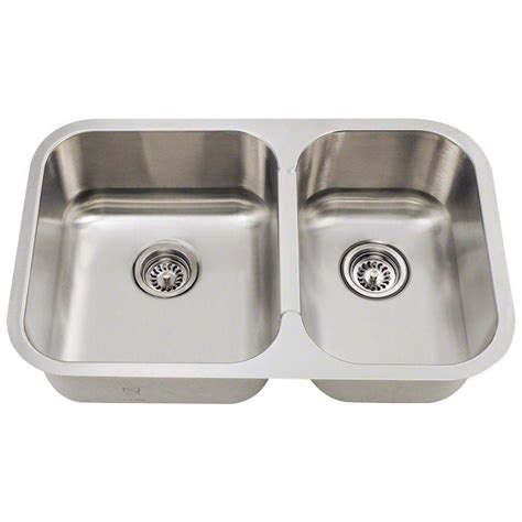 Home Depot Kitchen Sinks Stainless Steel Polaris Sinks Undermount Stainless Steel 28 In Basin Kitchen Sink Pl035 The Home Depot