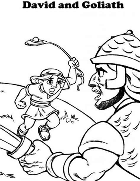 coloring page for david and goliath david and goliath coloring page 2014 discipleland