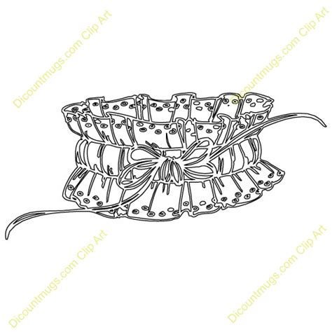 Wedding Garter Clip clip black and white orchid clipart