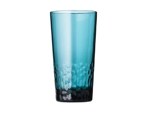 teal blue glass l 8 pc teal blue textured acrylic drinkware glass sets